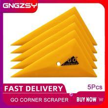 5Pcs Professionele Go Corner Zuigmond Driehoek Rand Plug Car Wrapping Vinyl Schraper Window Tinting Auto Care Handgereedschap 5A48