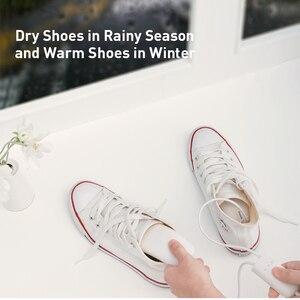 Image 2 - Baseus 200 فولت حذاء مجفف سخان Secador مزيل الروائح جهاز إزالة الرطوبة جهاز تدفئة القدمين سخان لشتاء الأحذية آلة رف الأحذية