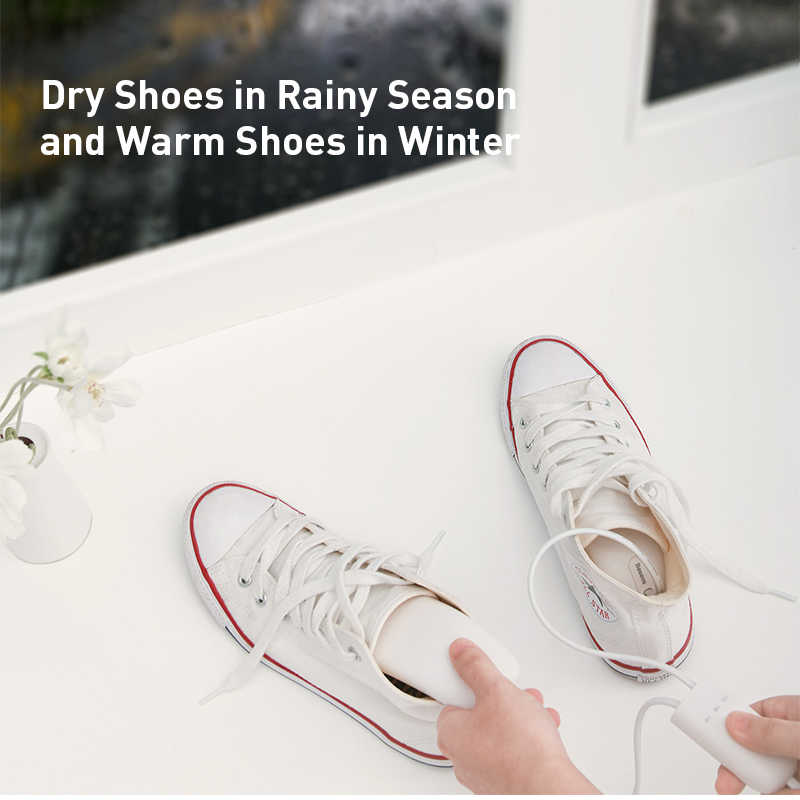 Baseus 200V ayakkabı kurutucu ısıtıcı Secador koku giderici nem alma cihazı ayak ısıtıcı ısıtıcı kış için ayakkabı kurutma makinesi ayakkabı rafı