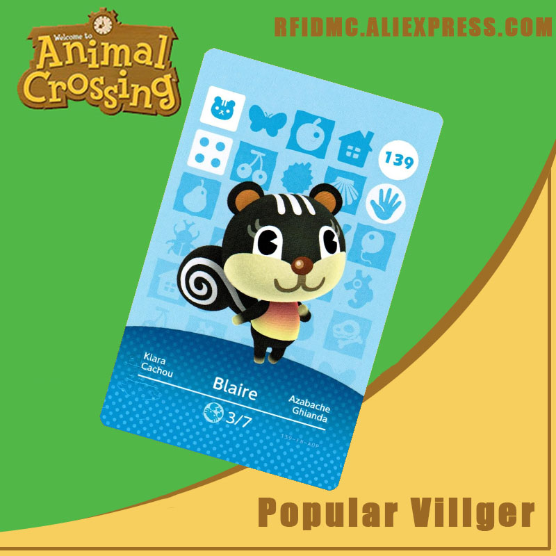 139 Blaire Animal Crossing Card Amiibo For New Horizons