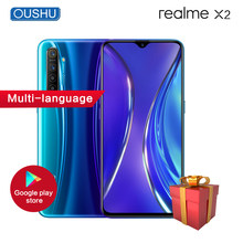 Realme X2 6.4'' Full Screen 6G 64G Mobile Phone SDM730G 64MP Quad Camera 4000mAh VOOC 30W Fast charging NFC OPPO Smartphone(China)