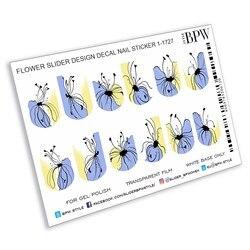 Slider Design Grafisch Patroon, Bpw. Stijl, Water Stickers Op Nagels, Sd1-1727
