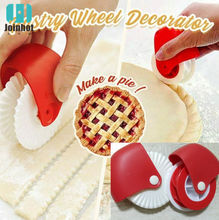 Pizza Pastry Cutter Rolling Wheel Decorator Baking Pie Cake Plastic Wheel Roller Cutting Decor Tools For   kitchen utensils plastic pizza roller knife pie slicer pastry embossing die lattice dough cutter pastry tool with wheel baking tools