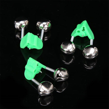 Rod-Clamp Bells-Ring Tip-Clip Alarms Fishing-Accessory Bite Green 5pcs/Lot Metal ABS