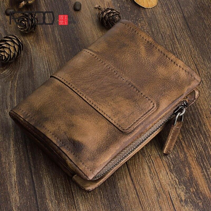 Creative Multifunctional Mens Short Vintage Wallet Wallet Wallet Multi-Card Coin Purse for Men