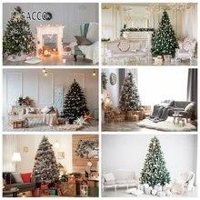 Laeacco Рождественские фоны шикарные настенные подарки дерево