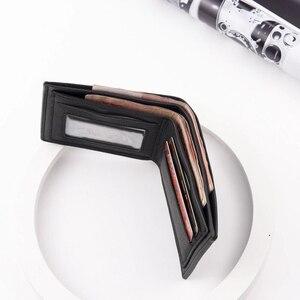 Модный мужской кошелек из искусственной кожи, короткий кошелек для ID карты, Новое поступление, блокирующий держатель для карт