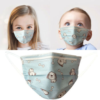 10PCS Disposable children mask Cartoon Pattern Face Mask Mouth Masks+filter 3-Layers Anti Dust Cover Kids Baby PM2.5 Respirator