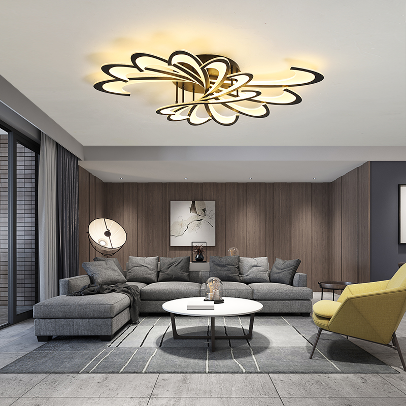 Modern Simple LED Ceiling Light For Dining Living Room Surface Mount Bedroom Indoor Home Creative Black Or White New Panel Lamp