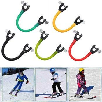 1 sztuk dla dzieci Snowboard Head Connector początkujący Snowboard Assist Device Snowboard rozwijana smycz narty terenowe narzędzia tanie i dobre opinie CN (pochodzenie) Other Dziecko 21CM YD280947_01 Support Ski connector