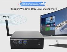 Mini portátil i5 4200u i3 4010y 4010u 2955u 8gb ddr4 1 * msata ssd + 1*2.5 graphics sata hd windows 10 nuc gráficos 4k htpc wifi hdmi vga