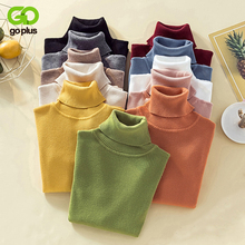 GOPLUS 2019 Turtleneck Colorful Knitted Sweater Women Thick Warm Long Sleeve Womens Autumn Winter Pull Femme Clothing