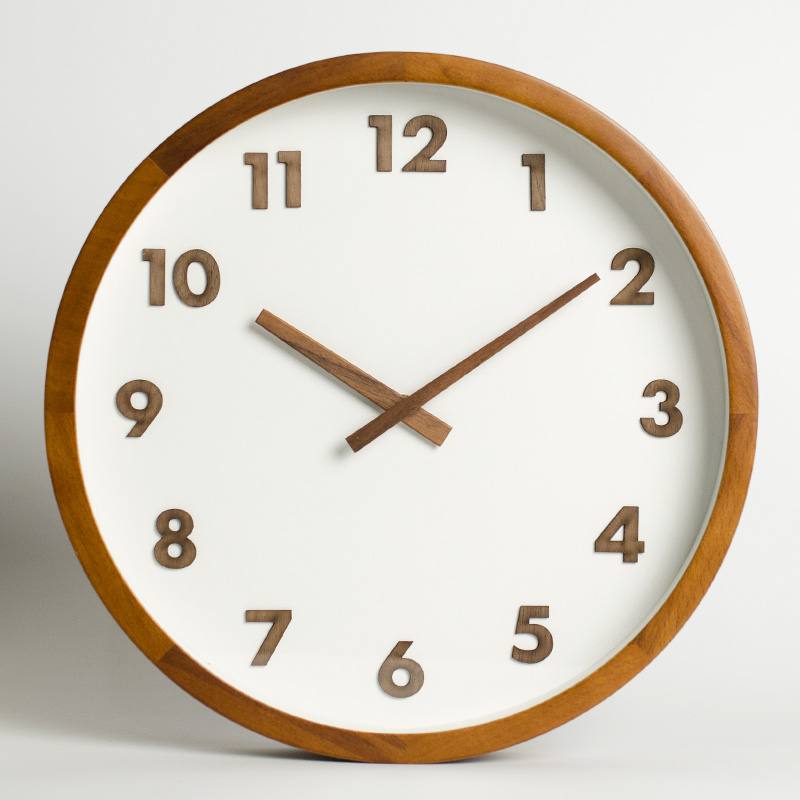 Nordic Wall Clock Wood Wall Watches Home Decor Japanese Living Room Bedroom 12 Inch Silent Solid Wooden Reloj Cocina Gift SC628