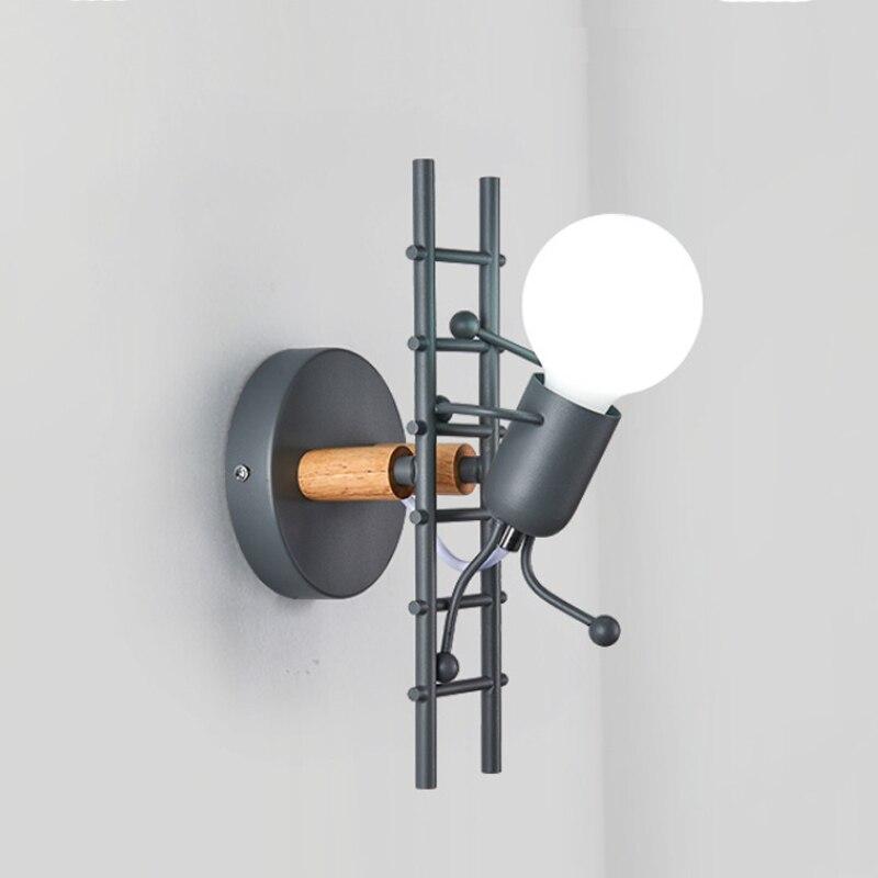 ferro conduziu a lampada de parede americano 02