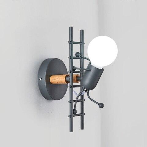 ferro conduziu a lampada de parede americano