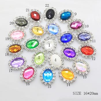 Sprzedaży edycja limitowana 10 sztuk 16*20mm owalne Diy biżuteria akcesoria Rhinestone płyta zaproszenie na ślub akcesoria odzieżowe tanie i dobre opinie YVLAH Elementy dystansowe 0 5cm Shiny 1 6cm Ocena biżuteria Metal Miedzi 10*14MM
