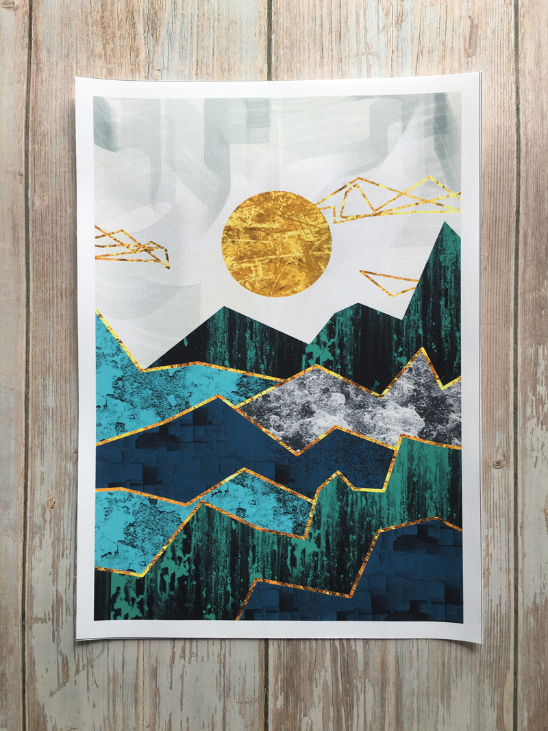 He7bdd1063d8b41d08dd0ee2cedfaa437Z Nordic Abstract Geometric Mountain Landscape Wall Art Canvas Painting Golden Sun Art Poster Print Wall Picture for Living Room