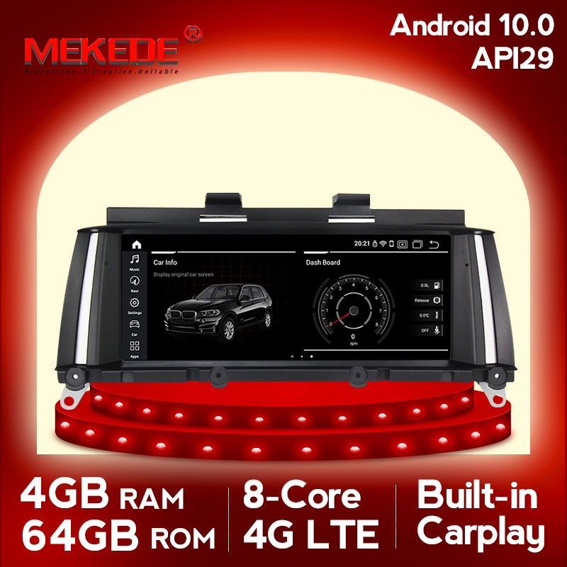 Mekede android10 4GB RAM 64GB ROM Auto Multimedia-player Auto radio fit für BMW X3 F25 X4 F26 zentrale multimidia GPS navigation