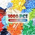 1000/500/300 stücke Kleine Partikel Ziegel Über 10 Größen Klassische Frühen Bildung Bausteine Groß Modell Figuren Kinder Spielzeug