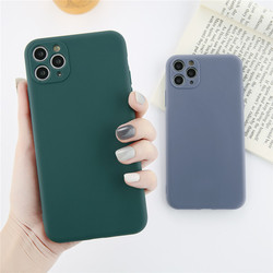 Ottwn Candy Colors Lens Protection Phone Case For iPhone 11 11 Pro Max Soft TPU Silicone Matte For iPhone 11 Pro Max Back Cover