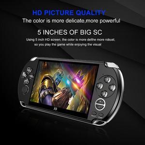 Image 2 - PSP جهاز تحكم ألعاب الفيديو ريترو X9 PSVita مشغل ألعاب محمول باليد لألعاب PSP Viat شاشة تلفاز 5.0 بوصة مع كاميرا أفلام Mp3