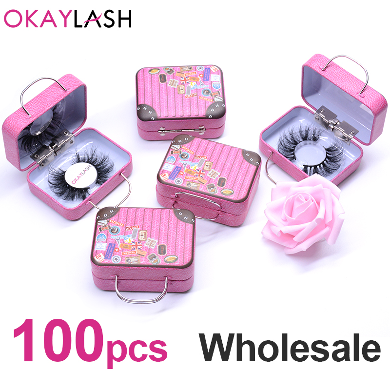 OKAYLASH 2020 Fashionable Luxury False Eyelash Steel Suitcase  Empty Fake Lash Storage Packaging Box Unique Eyelash Luggage Case