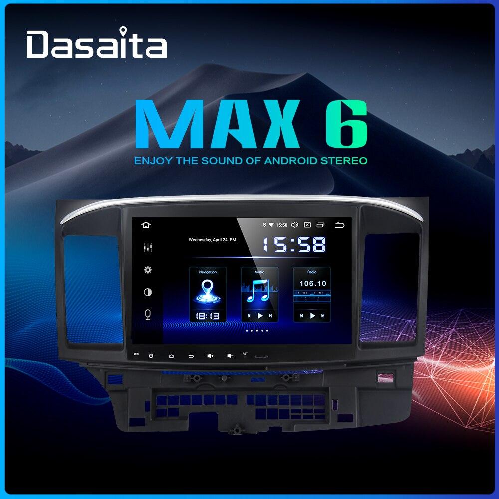Dasaita Android 9.0 Car Stereo DSP 10.2 Touch Screen for Mitsubishi Lancer 10 EVO Radio 1 Din 64G ROM 4G RAM Car Bluetooth