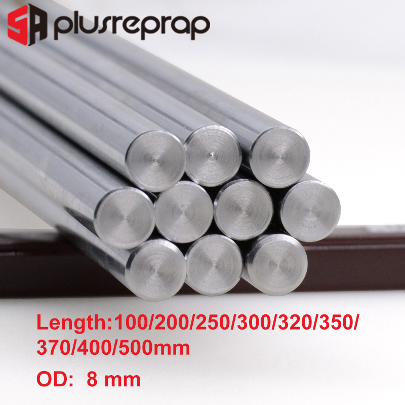 CNC Parts Liner Rail OD 8mm DIY Reprap Linear Shaft Smooth Rod 100mm 200mm 300mm 320mm 400mm 500mm For 3D Printer