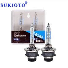 Bulbs Car-Headlight-Lamp Premium Metal HID D2s Xenon 5500K 55W D4S White 2PCS SUKIOTO