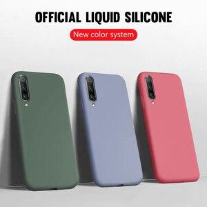 Ciekły silikonowy futerał na telefon dla Xiaomi Mi A3 A2 9 SE 10 9T Mi9T 8 Lite na Redmi Note 7 5 6 8 8T K30 K20 Pro Redmi 8 8A 7A pokrywa