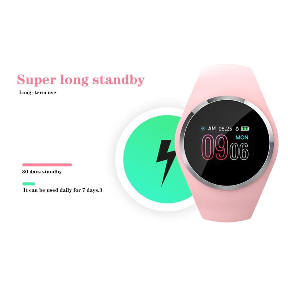 Q1 montre intelligente fréquence cardiaque Tracker Bracelet intelligent Bracelet montre de tension artérielle femmes/fille enfant montre de natation pour xiomi