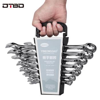 DTBD Torx klucz klucz kombinowany stal wysokowęglowa klucz kombinowany chromowany rozmiar metryczny do Auto narzędzia do napraw tanie i dobre opinie CN (pochodzenie) Chromu Stali chromowo-wanadowej Pokój Koniec Wielofunkcyjny Przeciwwybuchowe Antypoślizgowa DTBD043 Zestaw kluczy