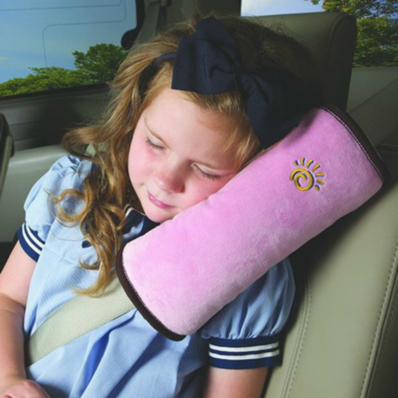 Baby Children Safety Strap Car Seat Belts Pillow Protect Shoulder Pad Car Soft Headrest Seatbelt Cushion Neck Pillow Kids Pillow