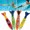 Summer Diving Toys Shark Torpedo Rocket Throwing Toy Funny Swimming Pool Diving Game Children Dive Dolphin Accessories Toy ZXH discount
