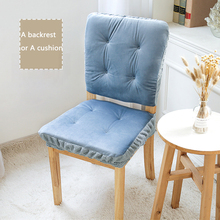 Chair Cover or Backrest Cover Dual Using way Solid Color Thick Winter/Autumn Soft Cushion for Chair Offices Chair Cover