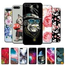 Para huawei y6 2018 caso macaco caso huawei y6 2018 tpu macio silicone volta capa em huawei y6 y 6 2018 à prova de choque capa do telefone