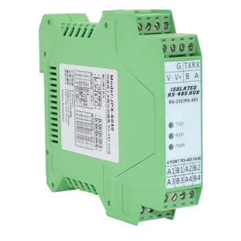 485 HUB 4 Ports Photoelectric Isolation 1 RS232 to 4 RS485 Industrial HUB Rail Type