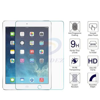 0.3mm Premium Tempered Glass For Apple for Ipad 4 3 2 air Pro 1 2 mini 1 2 3 4 Screen Protector Film 2.5D 9H Tempered Glass