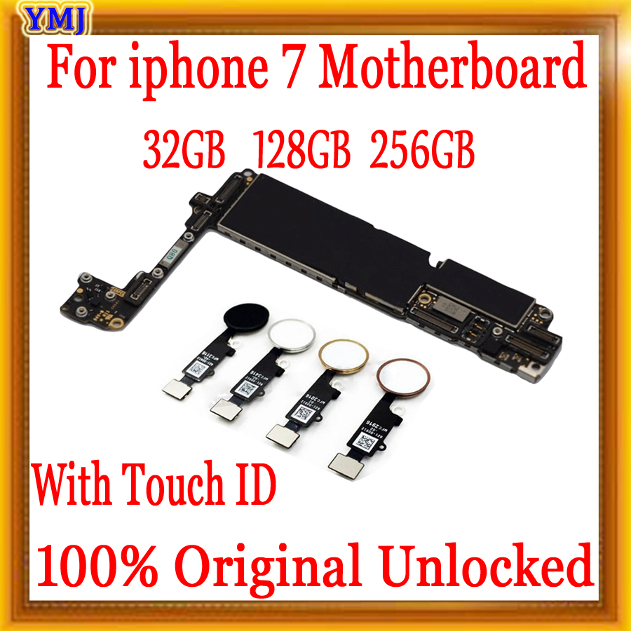32gb / 128gb / 256gb For Iphone 7 Motherboard With Touch ID/Without Touch ID,100% Original Unlocked For Iphone 7 Logic Boards