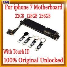Placa base para iphone 7, 32gb / 128gb/256gb, táctil con ID/sin ID táctil, 100% Original, desbloqueado