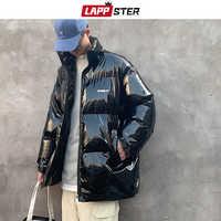 LAPPSTER hommes coloré épais bulle manteau 2019 hommes Streetwear Hip Hop hiver vestes manteaux mâle bouffant brillant chaud coréen Parka