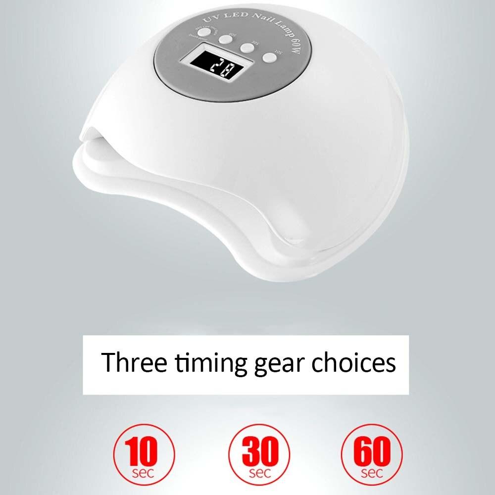 60 Вт большой мощности Светодиодный УФ фонарь машина для ногтей безболезненный автоматический датчик сушки лампы светолечение для маникюра