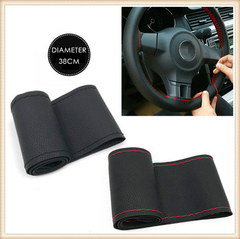 M SIZE Steering Wheel Covers Leather braid for BMW E34 F10 F20 E92 E38 E91 E53 E70 X5 M M3 E46 E39 E38 E90 M140i 530i 128i image
