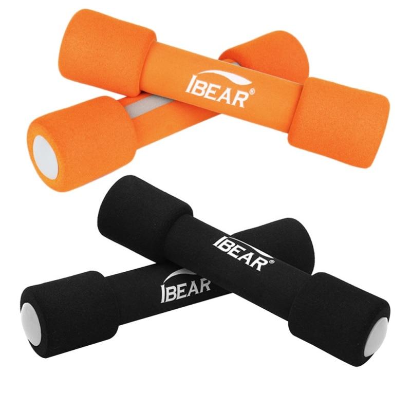 Halteres 2 x halteres dos halteres do equipamento dos esportes da aptidão do gym de ibear para a aptidão, aerob rosa do levantamento de peso do vinil 0.5 kg