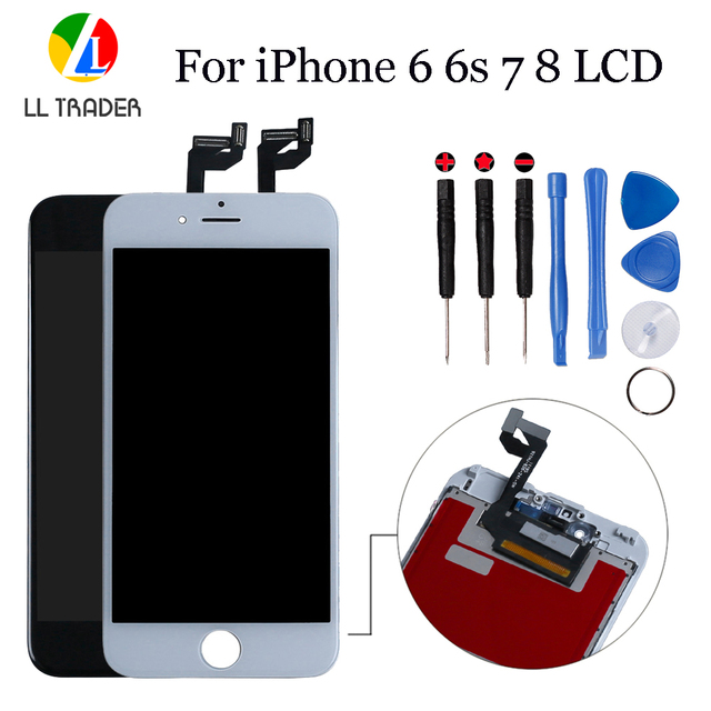Black AAAเปลี่ยนLCDสำหรับiPhone 8 7 6S 6 Plus 5sจอLCDจอแสดงผลแบบสัมผัสสำหรับiPhone 8G 7G 6S 6G Digitizer Touch