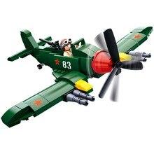 sluban 0683 170pcs military ww2 world war 2 soviet union il 2 attack planes fighter building blocks Toys For Children