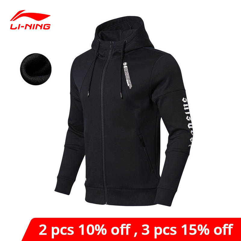 Li-Ning Men BAD FIVE Basketball Hoodie WARM AT Fleece 66%Polyester 34%Cotton Regular Fit LiNing Li Ning Sweater AWDN849 MWW1493