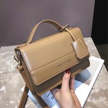 Vintage Letter Square Women Shoulder Bags Designer Handbags Luxury Pu Leather Female Crossbody Bag Small Flap Ladies Purses 2019