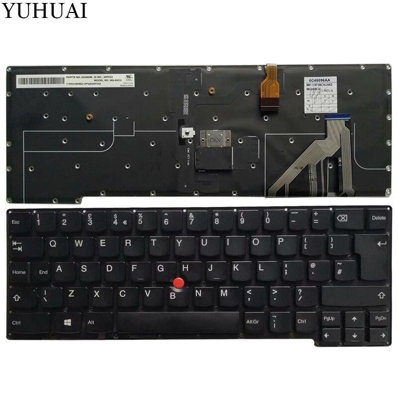 新しい英国ノートパソコンのキーボードのためのバックライト lenovo thinkpad X1C 2014 × 1 炭素世代 2 タイプ 20A7 20A8 英国キーボード  グループ上の パソコン & オフィス からの 交換用キーボード の中 1