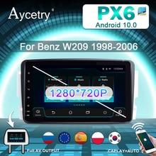 PX6 автомобильное радио 2 Din Android 10 DVD Авторадио аудио для Mercedes/Benz/CLK/W209/W203/W208/W463/Vaneo/Viano/Vito навигация GPS 4G